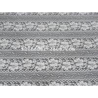 Best Delicate Flower Striation Spacing Stretch Lace Fabric With Nylon Spandex Material For Dress SYD-0173 wholesale