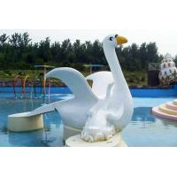 Customized Cygnet Slide Game For Kids, Fiberglass Small Water Pool Slides