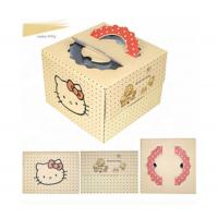 China Cake Custom Cardboard Display Boxes Recycled Materials With Window on sale