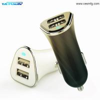 Best 3.4A LED Mobile Car Battery Charger Adapter,2018 Universal Mobile Cell Phone Fast Pprtabe Electric Dual Usb Car Charger wholesale