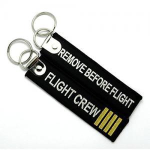 China Remove Before Flight Flight Crew Fashion Embroidery Key Chain Key Ring Keychain Key Tag on sale