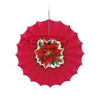 Best Christmas Home Decorations Paper Fan Round Folding Fans Hanging Party wholesale