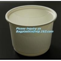Best 8oz 10oz 12oz 16oz Fully compostable CPLA food grade lid fit for paper coffee cup,Compostable 90mm CPLA yellow cup lid f wholesale