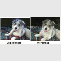 Best Pet Custom Oil Painting Portraits Personalized Dog Portrait Painting Unique Gift wholesale
