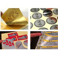 China Aluminum Metal Custom Vinyl Stickers , Self Adhesive Labels For Electronic Products on sale