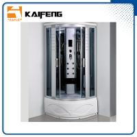 China Luxury Room Steam Shower Bath Cabin Shower Spa Units With Spa Tub Sector Shape on sale