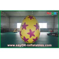 Best 6m Inflatable Holiday Decorations Pvc Easter Egg for Advertising / Party wholesale