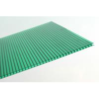 Best Anti Fire Green Plastic Corrugated Roofing Sheets , Polycarbonate Wall Panels wholesale