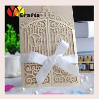 Cheap Christmas greeting cards laser cut birthday greeting card invitation cards+envelopes+ribbon/buckle as option for sale