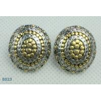 Best High quality guaranteeRound tin alloy Zirconia Stud Earrings pin at factory price wholesale