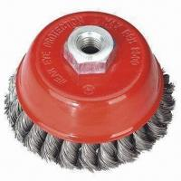 Best Cup Brush with Twisted Steel Wire and 65/75/85/90/100/125/50mm Diameters wholesale