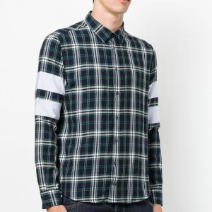 Best Cotton Mens Fashion Casual Shirts , Button Down Mens Plaid Dress Shirt wholesale