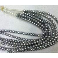 Best 10-11mm nearly round gray Slightly natural freshwater pearl wholesale