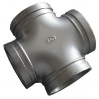China High End Ductile Iron Pipe Fittings , Grooved Pipe Couplings Equal Cross Epoxy on sale