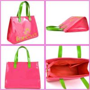 Best cheap pvc ladies handbag with pocket beauty women purse wholesale
