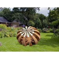 China Corten Steel Product Abstract Pumpkin Design Outdoor Sculpture as Square Decoration on sale
