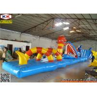 Best Children Inflatable Water Game PVC Water Obstacle Course Custom wholesale