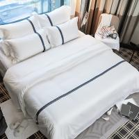 China ECO-friendly linen Wholesale Bed Sheet for Star Hotel 100% Cotton Linen bed sheets on sale