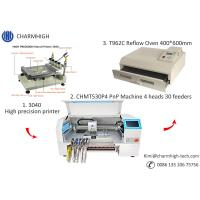 Buy cheap CHMT530P4 SMT Production Line With Pnp Machine Solder Paste Printer T962A Reflow Oven product