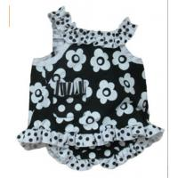 Cheap fashion girl ,New born sleevless dress and panties ,infant dress set ,3-9month for sale