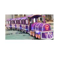 China Colorful Electric Trackless Train Kids Party Train ISO9001 3.4 * 1.2 * 2.1 M on sale