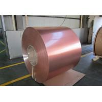 Cheap 18 / 25 Micron Color Coated Aluminum Coil High Glossy Single / Double Coating for sale