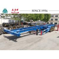 Best 40FT 3 Axle Skeleton Chassis Trailer , Skeletal Container Trailer For Transportation wholesale