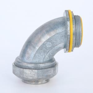 90 Degree Liquid Tight Flelxibele Conduit Connector Zinc Die Casting Yellow Blue Cap UL listed 4
