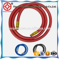 ISO ceritified 50mm oil resistant synthetic textile braided red  petrol station rubber hose