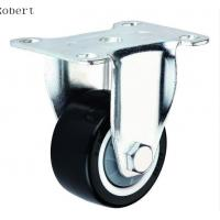 China Durable Trolley Polyurethane Roller Wheels , Spring Loaded Casters For Machines on sale