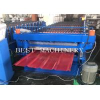 Best PPGI Steel Two Layer Corrugated Roof Sheeting Machine , Roof Sheet Rolling Machines wholesale