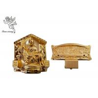 Gold Plastic Casket Accessories , American Style Funeral Coffin Fittings Suppliers