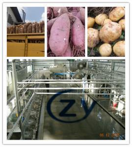 Best Automatic 110kw Sweet Potato Starch Machine 18t/H Cassava Cutting Machine wholesale