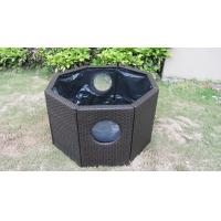 Strong Dark Brown Rattan Fish Tank With Power Coated Aluminum Frame