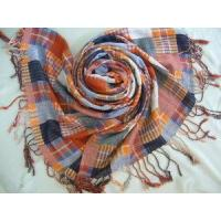 Best Yarn Dyed Checked Cotton Scarf (HP-C262) wholesale