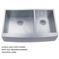 China stainless steel double bowl deep kitchen sink with strainer best quality sink on sale