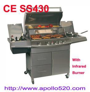 Best Four Burner Barbecue Set with infrared burner wholesale