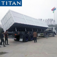 China Used Heavy Duty 3 Axles Side Tipper Truck Dump Trailer Prices on sale