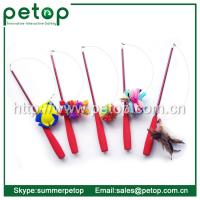 Best Telescoping Fishing Rod Spin Feather Wand Cat Toys wholesale
