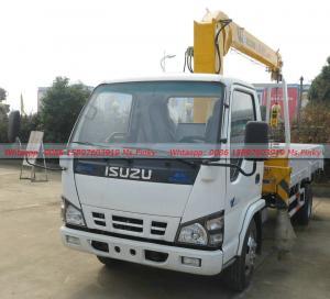 Best ISUZU Cargo truck with Crane, Mini ISUZU Truck Mounted With Crane 3Tons,ISUZU Crane Truck factory directly sales wholesale