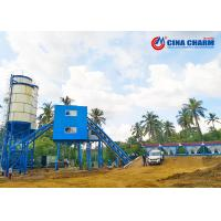 Buy cheap Large HZS60 Stationary Concrete Batching Plant Steel Structure With Js1000 from wholesalers