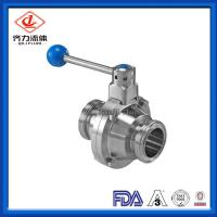 China Threaded Connecting Sanitary Stainless Steel Butterfly type  Ball Valve on sale