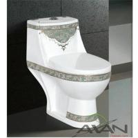 China A-052 colorful cloud Siphonic one-piece toilet on sale