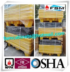 Four Drum Spill Containment Pallets , HDPE Oil Drum Containment Pallet Stackable