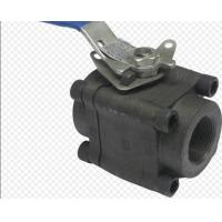 Best API6D 3 Piece Full Bore Ball Valve SW  NPT Ends Forged Steel Material wholesale