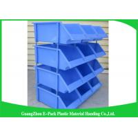 China Industrial Plastic Storage Boxes , Stackable Recycled Commercial Storage Bins on sale