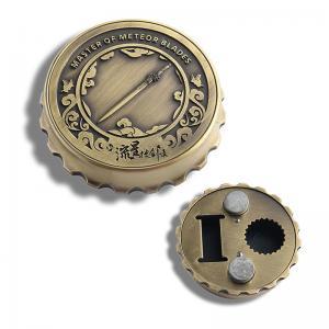 China Beer Cap Shape Personalised Fridge Magnet Bottle Opener Zinc Alloy Material on sale