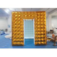 China Gold Inflatable Photo Booth 2.5 X 2.5 X 2.5 M Two Doors CE Approved on sale