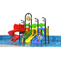 China Simple Outdoor Water Playground , PowderCoated Plastic Outside Play Equipment on sale