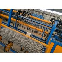Best High Efficiency Automatic Chain Link Machine , Galvanized Wire Chain Link Fence Equipment wholesale